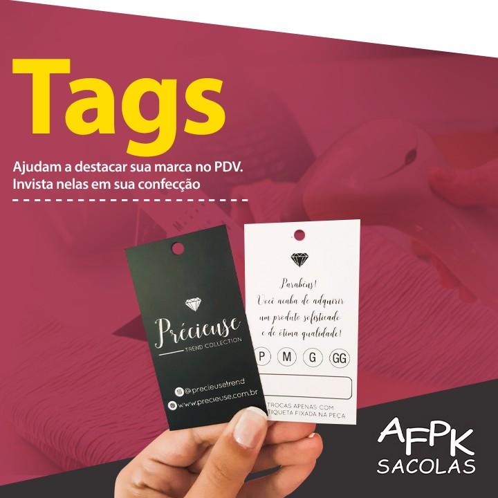 Tags ajudam a destacar sua marca no PDV. Invista nelas em sua confecção